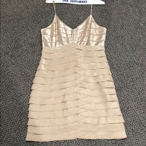Eliza JNew York Gold Cocktail Dress Size 14 Petite